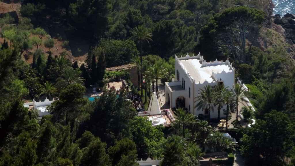 Vista aérea de la casa de Michael Douglas en Mallorca.
