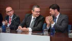 El presidente de UEPAL; Juan José Sellés, junto al alcalde de Alicante, Luis Barcala, en una imagen de archivo.