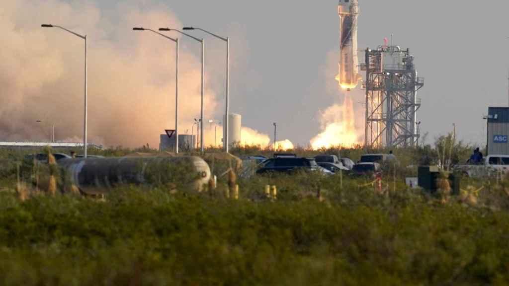 El cohete New Shepard de Blue Origin.