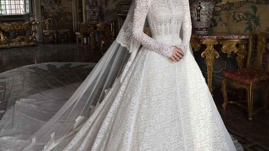 La historia detrás del espectacular vestido de novia de Lady Kitty Spencer