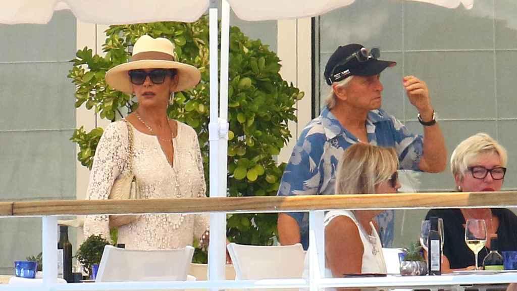 Catherine Zeta-Jones y Michael Douglas en Mallorca.