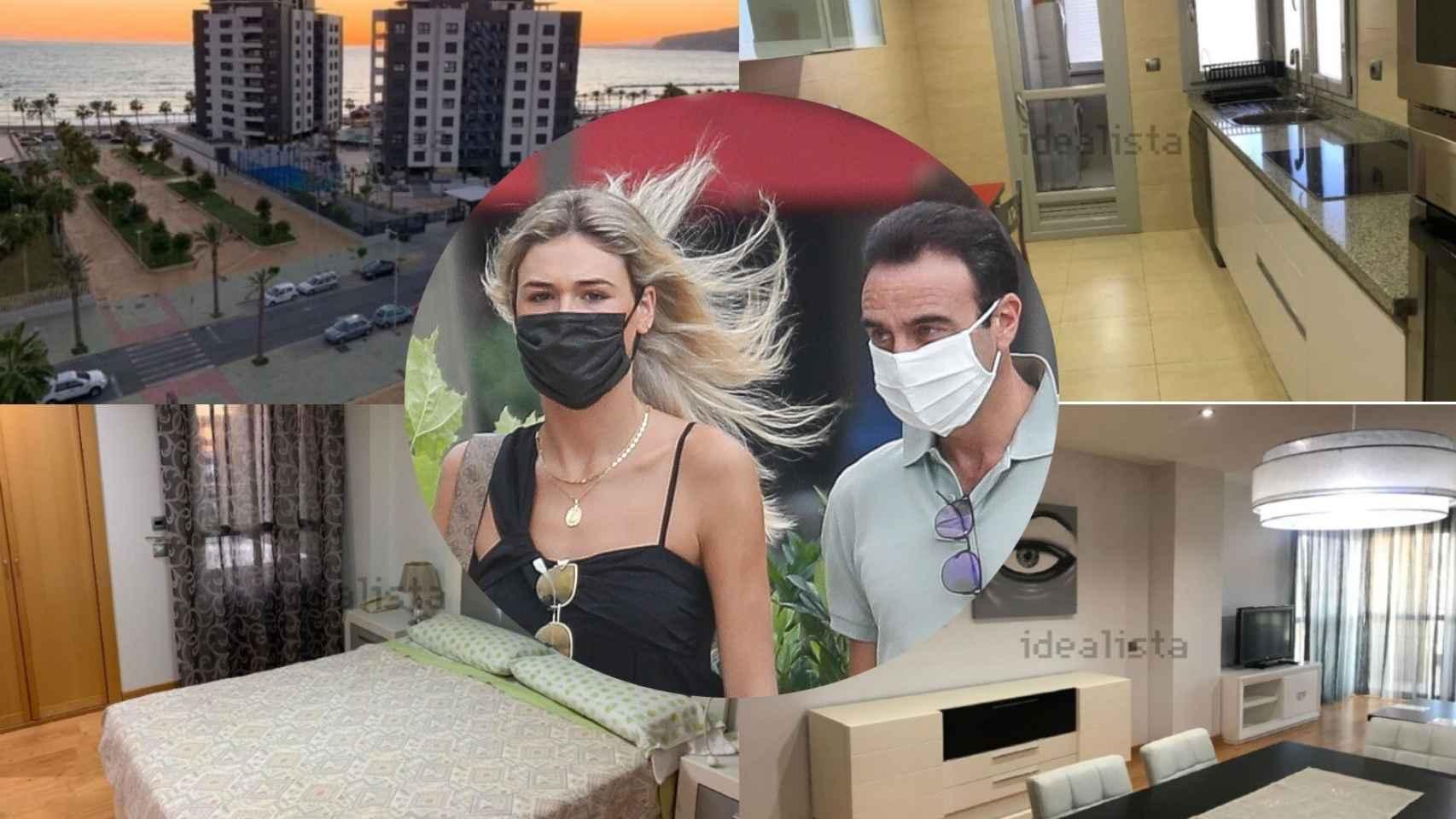 Ana Soria y Enrique Ponce, sobre algunas fotos de su nuevo hogar.