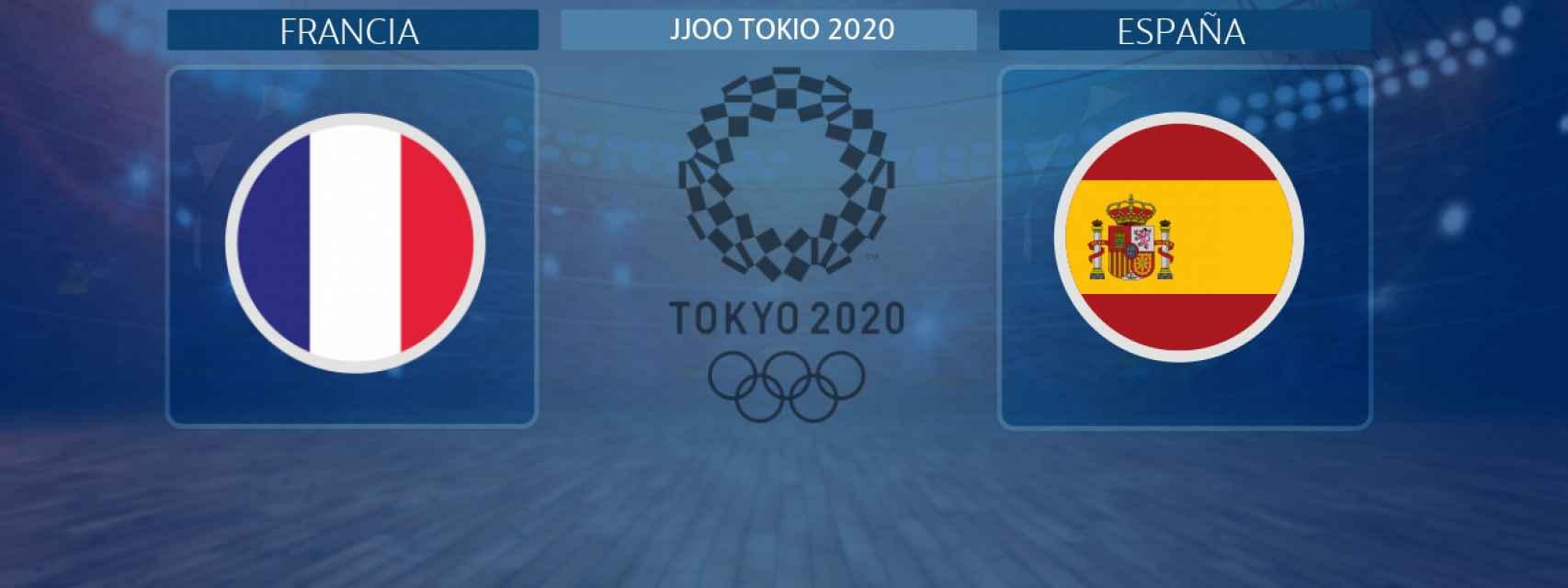 Francia - España, partido de balonmano femenino de los JJOO Tokio 2020