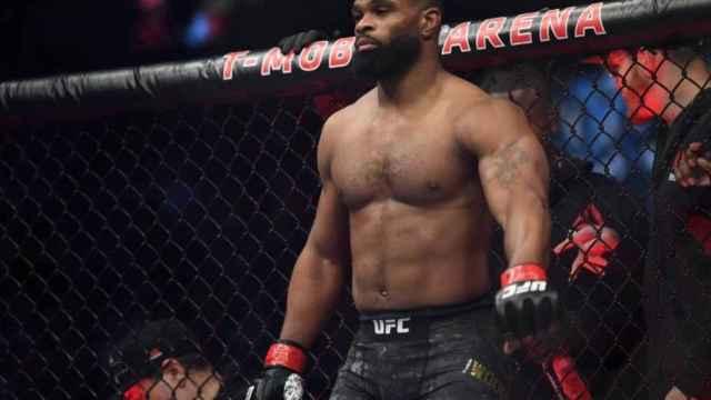 Tyron Woodley, durante un combate de la UFC