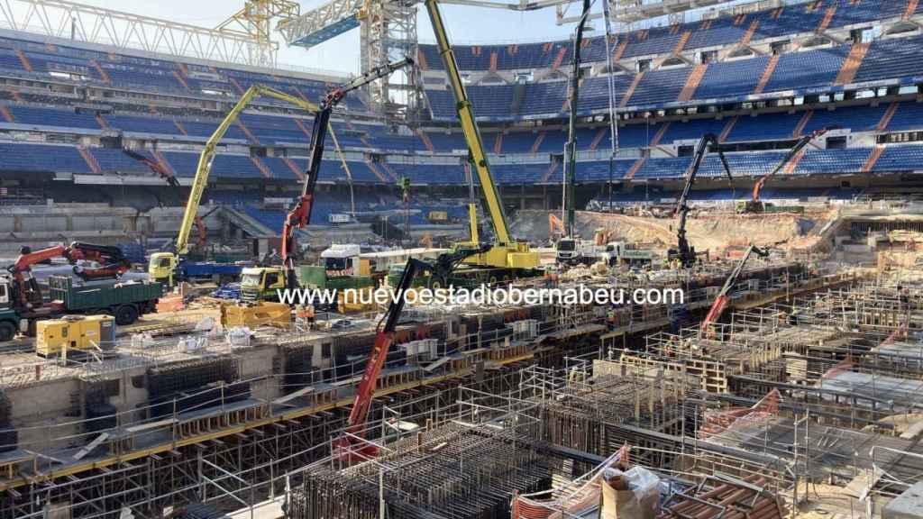 El estado del césped del Santiago Bernabéu, a finales del mes de julio de 2021