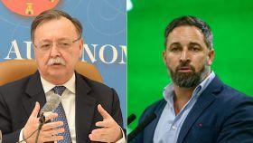Juan Jesús Vivas, presidente de Ceuta, y Santiago Abascal, presidente de Vox.