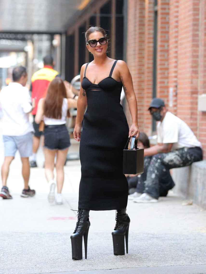 Lady Gaga por las calles de Nueva York.