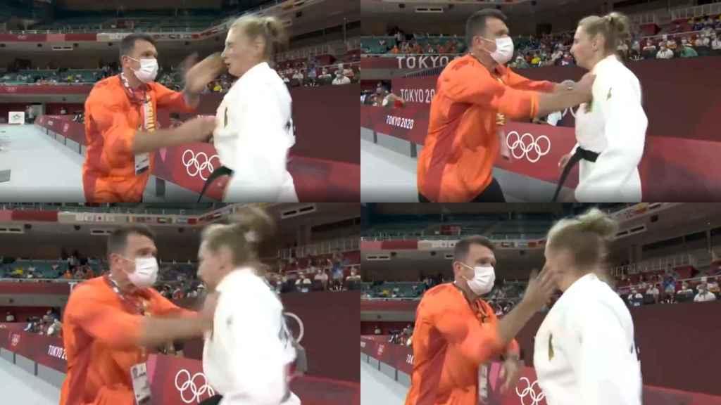 Las imágenes de Martyna Trajdos con su entrenador