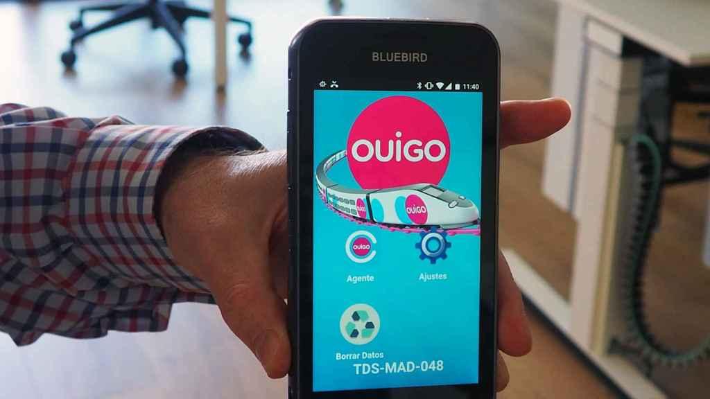 La aplicación móvil de Ouigo.