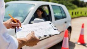 Examen del carnet de conducir.