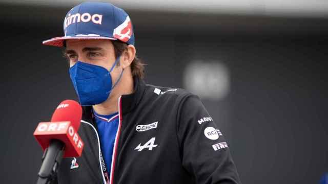 Fernando Alonso, durante una entrevista