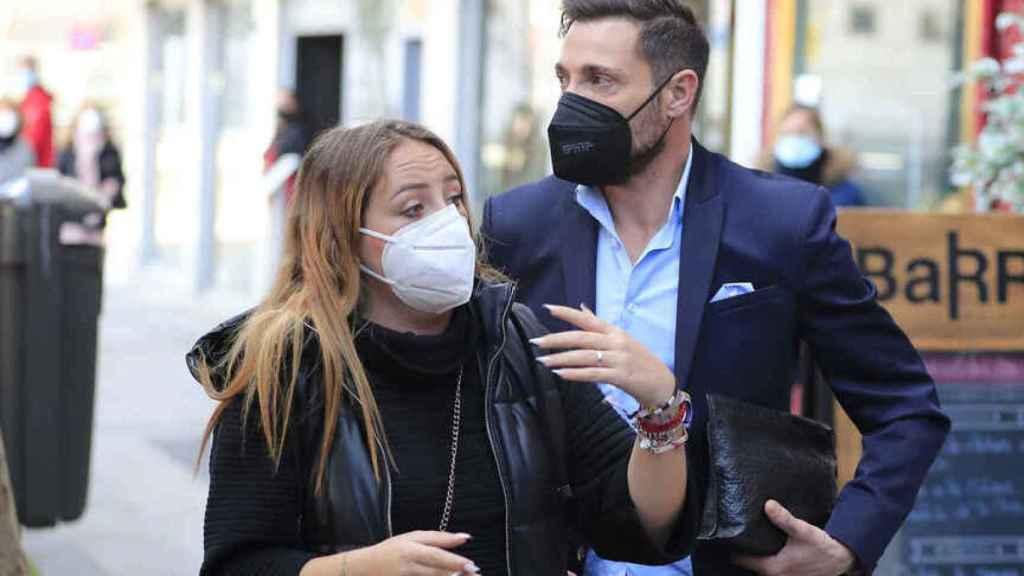 Antonio David Flores y su hija, Rocío, en las calles de Madrid.
