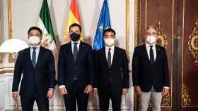 La dirección de Huawei España y la presidencia de la Junta de Andalucía