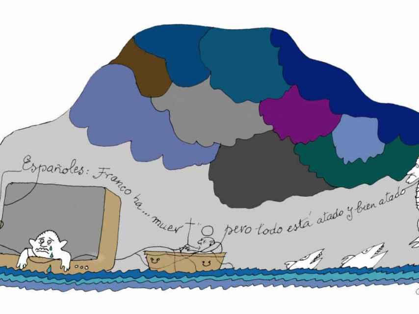 Ilustración de Peridis para Prego.