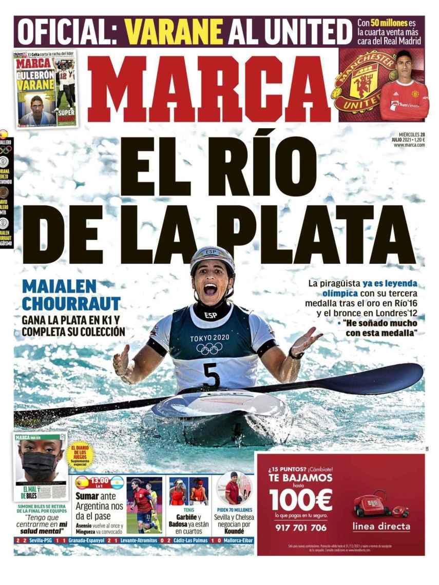 La portada del diario MARCA (28/07/2021)