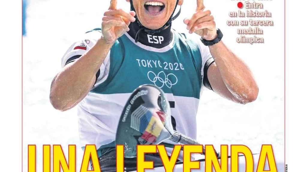 La portada del diario AS (28/07/2021)