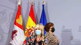 Miriam Chacón  ICAL . La consejera de Sanidad, Verónica Casado, informa sobre la situación epidemiológica en Castilla y León.