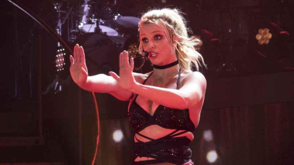 Britney Spears durante uno de sus conciertos.