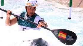 Maialen Chourraut durante la prueba de los Juegos Olímpicos