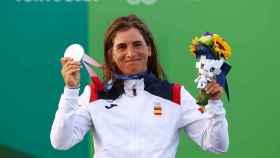 Maialen Chourraut, con la medalla de plata en los Juegos Olímpicos de Tokio 2020