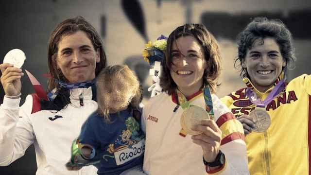 Maialen Chourraut: plata en Tokio 2020, oro en Rio 2016 (posando junto a su hija) y bronce en Londres 2012
