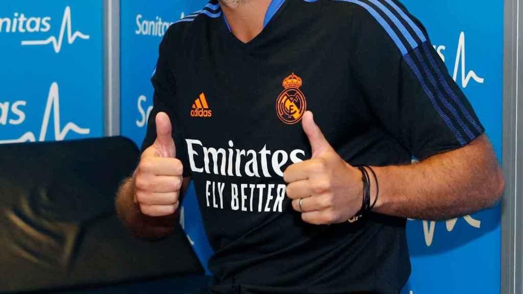 Eden Hazard durante el reconocimiento médico del Real Madrid