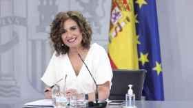 María Jesús Montero, ministra de Hacienda y Función Pública,  en la rueda de prensa posterior al Consejo de  Ministros.