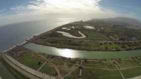 Vista aérea de la desembocadura del río Guadalhorce, donde es más elevado el riesgo de inundabilidad.