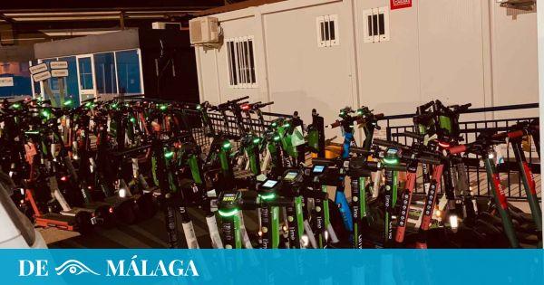 Cruzada contra los patinetes en Málaga: la grúa retira más de 400 sólo en julio