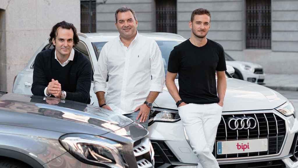 Equipo directivo de Bipi, de izquierda a derecha: Alejandro Vigaray, cofundador; José Luis Hernández, CSO y Hans Christ, cofundador.