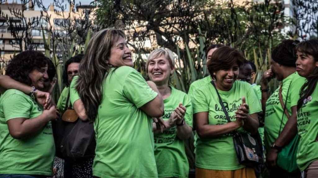 Varias integrantes del sindicato de camareras de piso Las Kellys.