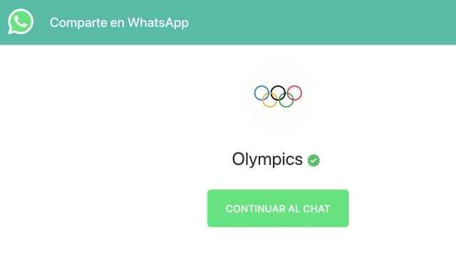 El truco de WhatsApp para seguir los Juegos Olímpicos desde la app