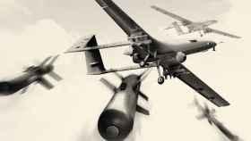 Dron Bayraktar TB2 disparando misiles