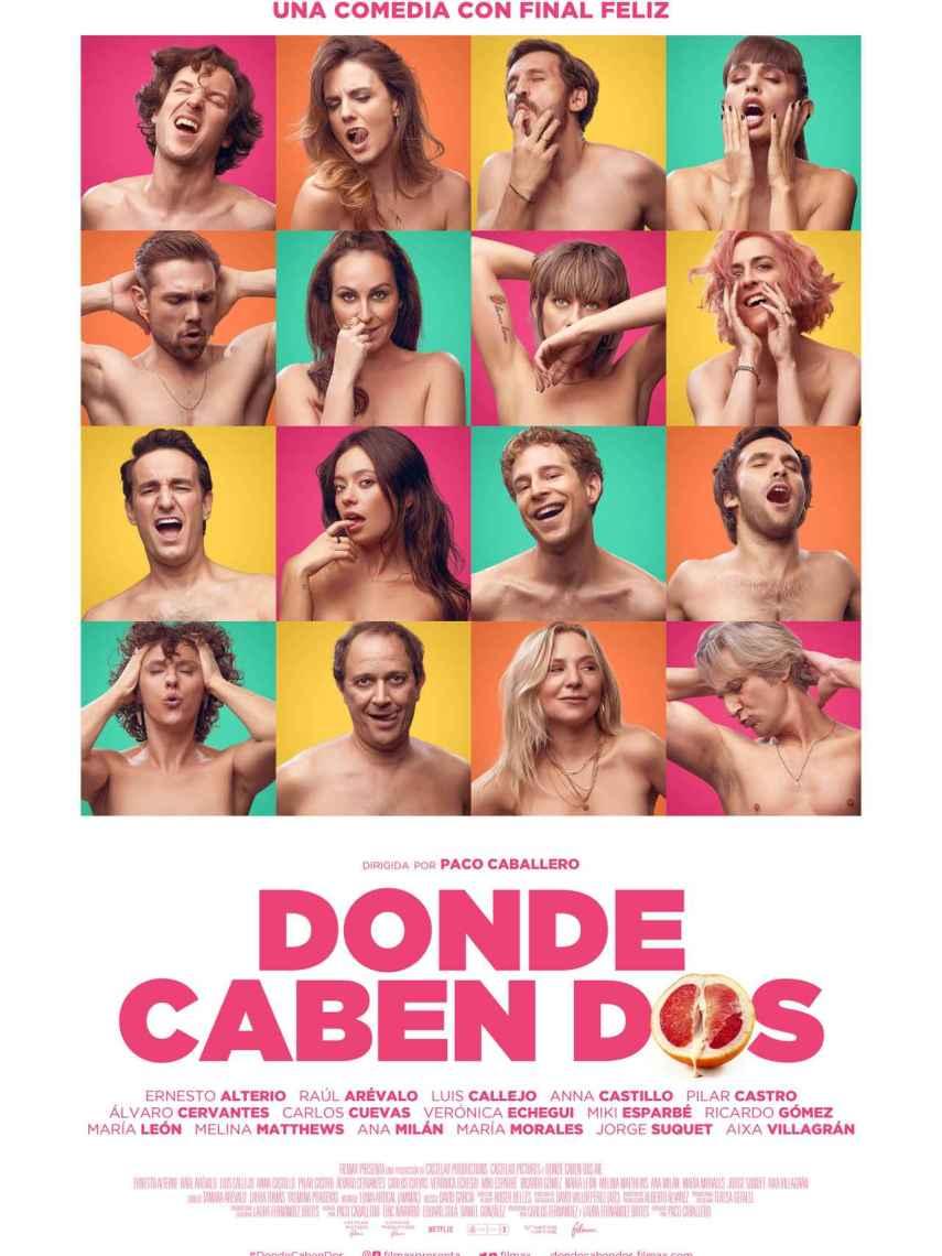 Poster de la película' Donde caben dos'.