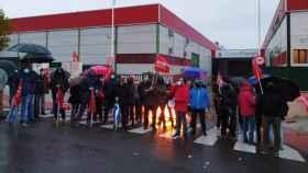 Imagen de archivo de una de las protestas de los trabajadores de Compo Factory Toledo