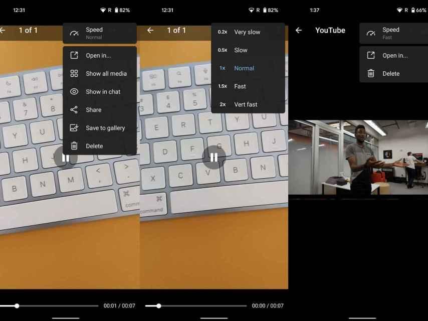 Telegram video playback speed