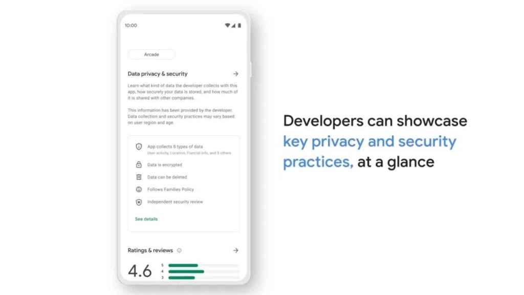 Google Play seccion privacidad y seguridad