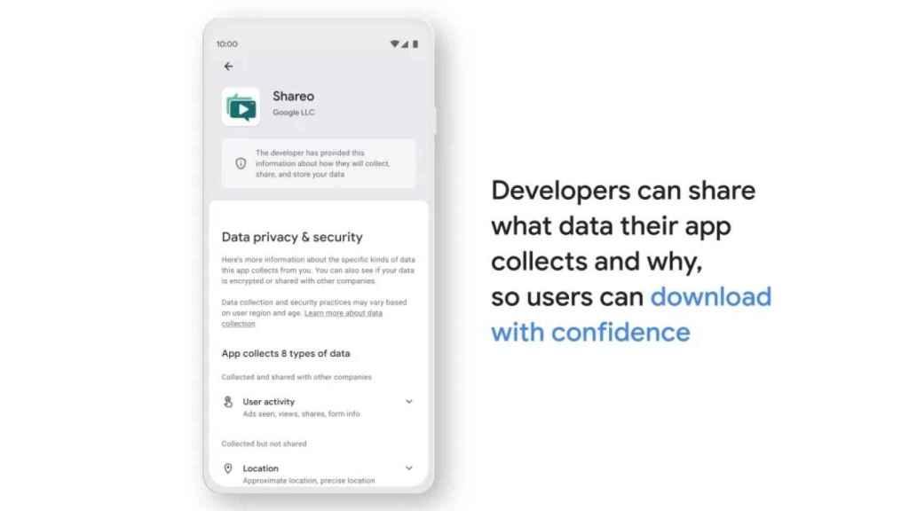 Privacidad y datos Google Play