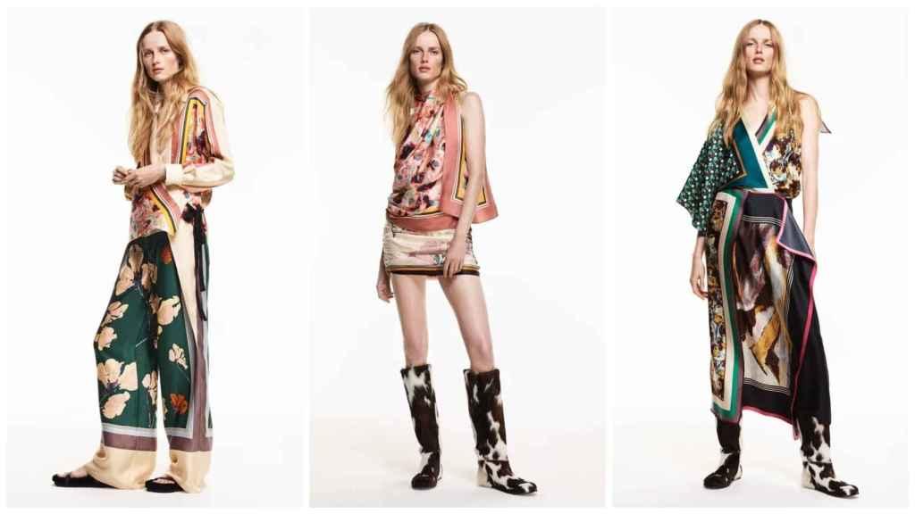 Diseños con estampado de pañuelo de Zara Studio.