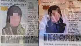Los documentos de identidad de Amal y Ebtisam.