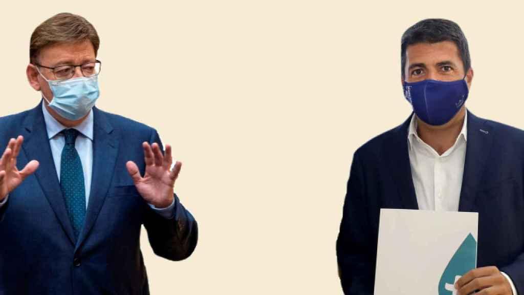 Ximo Puig (PSOE) y Carlos Mazón (PP).