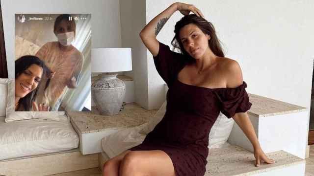 Laura Matamoros y una captura de los 'stories' compartidos, en un montaje de JALEOS.