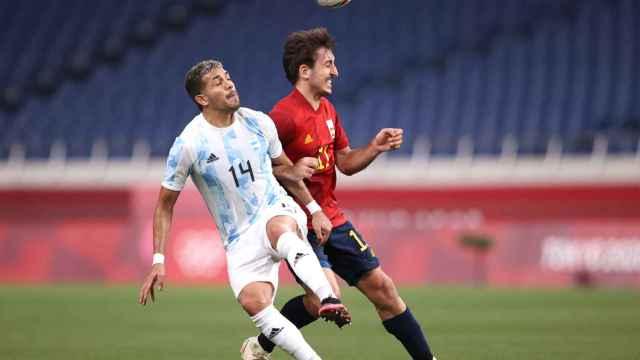 Mikel Oyarzabal, durante el España - Argentina en los Juegos Olímpicos