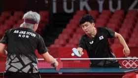El jugador de tenis de mesa surcoreano Jeoung Young-Sik en los JJOO de Tokio 2020
