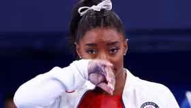 Simone Biles tras retirarse de la final