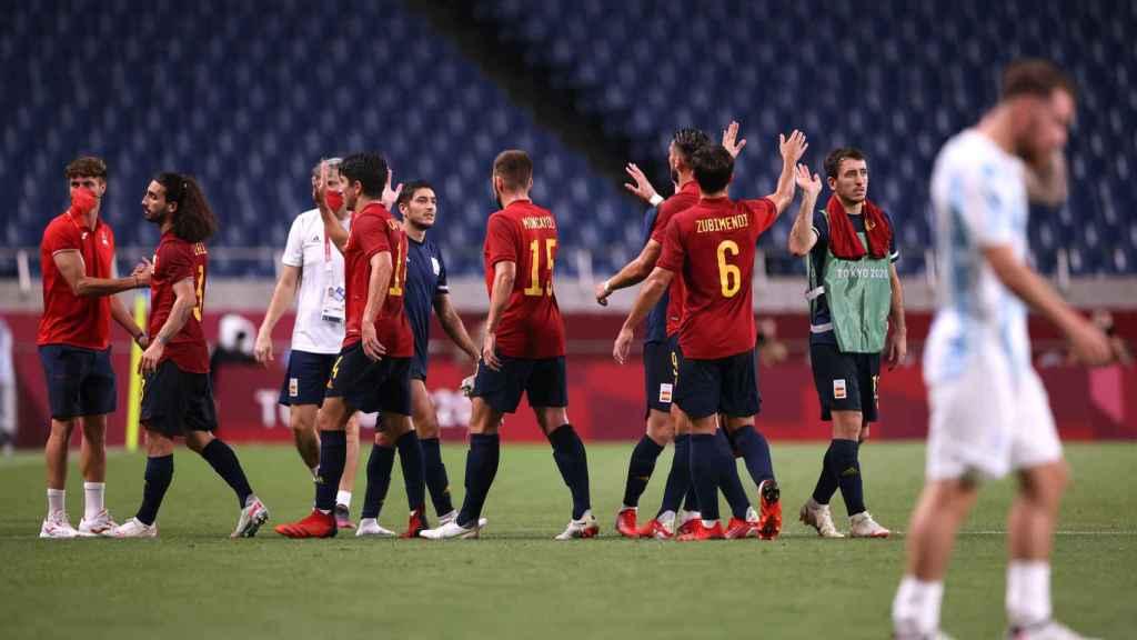 España celebra el pase a los cuartos de final en Tokio 2020