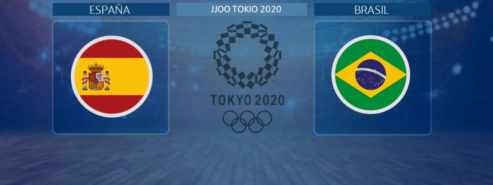 España - Brasil, partido de balonmano femenino de los JJOO Tokio 2020