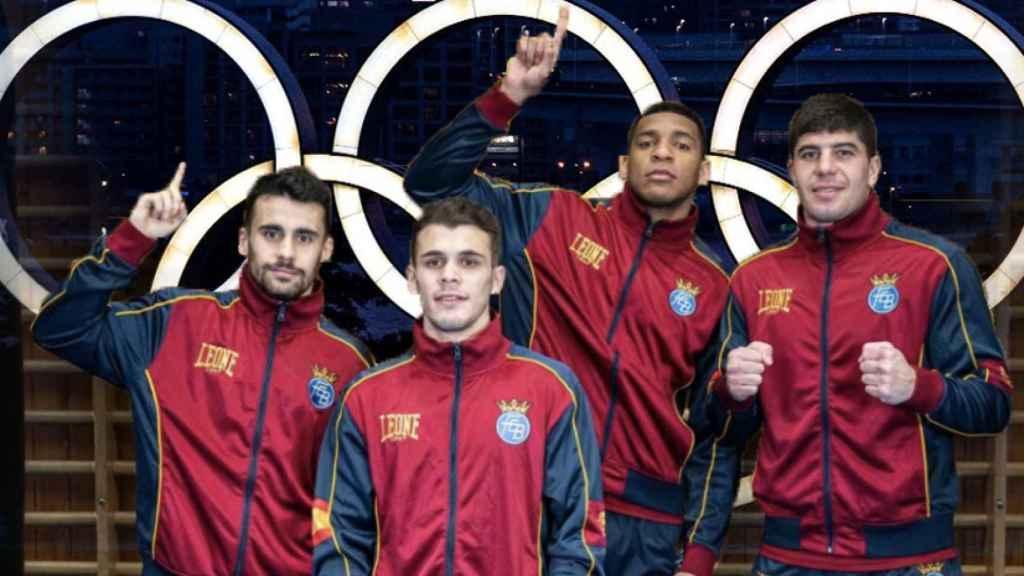 El equipo español de boxeo en los Juegos Olímpicos