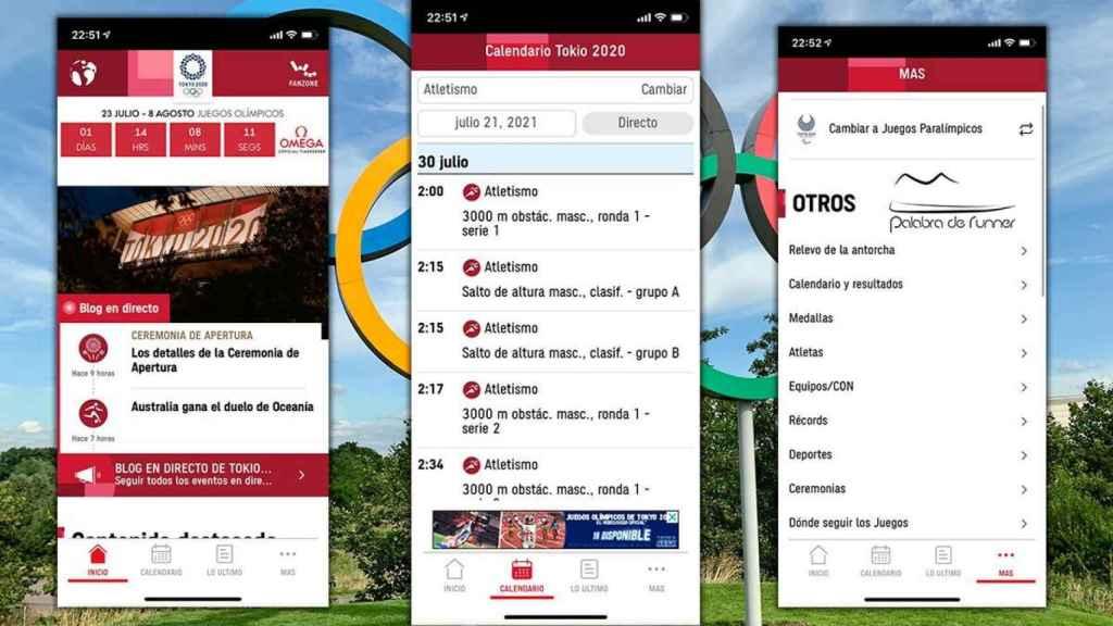 Aplicación oficial Olympics
