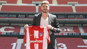 Rodrigo de Paul, en su presentación como nuevo jugador del Atlético de Madrid